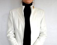 Etsy :: Jouw platform voor het kopen en verkopen van handgemaakte items Leather Jacket Dress, Blazer, Trending Outfits, Unique, Jackets, Clothes, Etsy, Dresses, Fashion