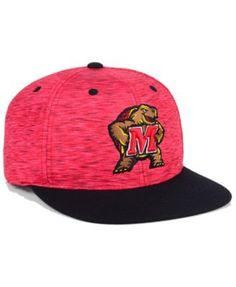 Top of the World Maryland Terrapins Energy 2-Tone Snapback Cap - Red/Black Adjustable