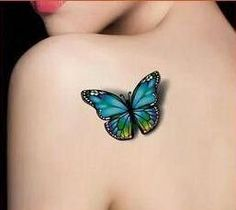 High quality 3D Butterfly flash tattoo Temporary Tattoo tatoo Tatto henna Waterproof Stickers makeup halloween WM004B
