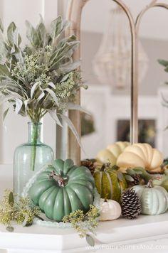 DIY fall home decor ideas. Home Stories A to Z. Autumn Decorating, Decorating Tips, Decorating Your Home, Easy Home Decor, Cheap Home Decor, Sweet Home, Painted Pumpkins, Fall Diy, Autumn Home