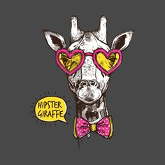 Giraffe Colors, Funny Giraffe, Funny Tshirts, Kids Outfits, Shirt Designs, Graphic Tees, Hipster, T Shirt, Animals