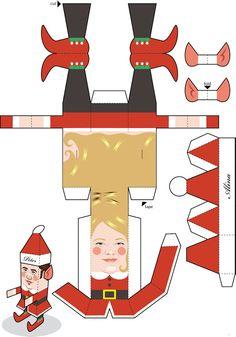Quirky Artist Loft: Free Paper Craft: Christmas Elf