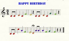 Happy Birthday & many other simple boomwacker scores color-coded...use for a center