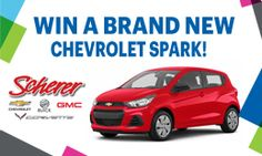 CHYM 96.7 - Enter To Win Chevrolet Spark, Enter To Win, Giveaways, Board, Sign