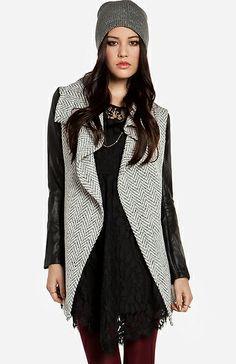 Glamorous Tweed Waterfall Jacket | DAILYLOOK