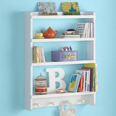 Kids Wall Rack White Hanging Book Shelf In Storage