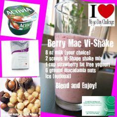 Berry Mac Shake #Project10 #Fitness #weightloss #Healthy #Vi #BodyByVi #Motivation #Workout #ZLoescher #MLM #Successful #Entrepreneur #PersonalTrainer #ProteinShake #shake