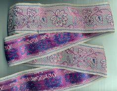 "BEAUTIFUL Full Silver Zari Weaving Floral Leafs Design 2.50"" x 5 Yard LACE TRIM"