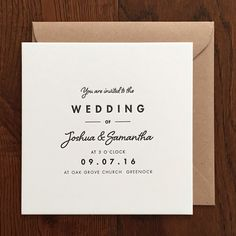 Shelby: Wedding invitation / over the c.