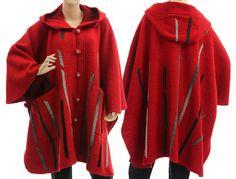 Boho hooded poncho cape fall winter poncho cape von classydress