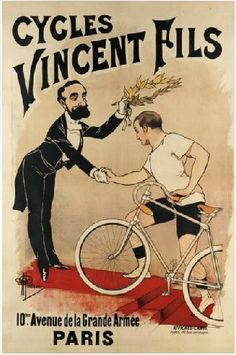 Vintage Retro Paper Poster, CYCLES