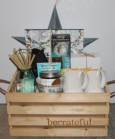 Gentle yoga gift basket namaste learn more at http unique gift crates calgary alberta gift basket company negle Images