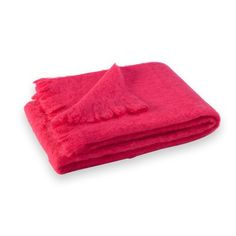 Brighten up a neutral couch with this hot pink mohair throw