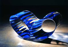 blue acrylic oh void by ron arad