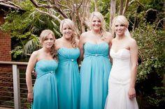 Bridal makeup. Blue bridesmaids dresses www.sparrowmakeup.com.au