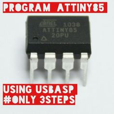 It is easy to program a Attiny ! just follow these simple steps...! you will do it in less than 30mins.
