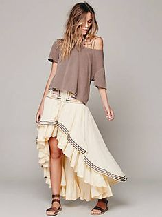Free People Rises in the East Skirt, $248.00