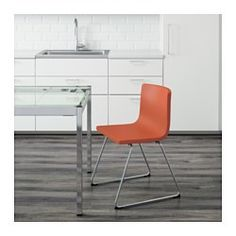 IKEA - BERNHARD, Chair, You sit comfortably thanks to the restful flexibility of the seat.You sit comfortably thanks to the padded seat.Soft, hardwearing and easy care leather, which ages gracefully.