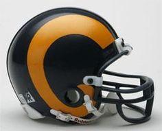 St. Louis Rams 1981-99 Throwback Replica Mini Helmet