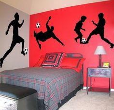 Stylish Soccer Themed Bedroom Design For Boys Football Rooms, Football Bedroom, Boys Soccer Bedroom, Boys Bedroom Decor, Bedroom Themes, Bedroom Ideas, Bedroom Designs, Bedroom Images, Bedroom Chair