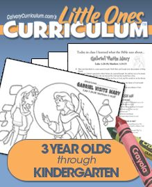 Free Bible Curriculum - printable mini lessons and activity sheets