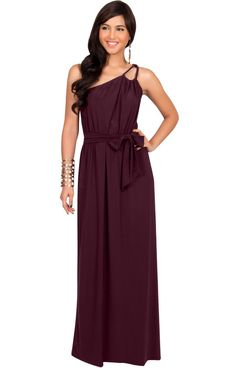 a23fb4b1858 Womens Long Sleeveless One Shoulder Evening Summer Bridesmaid Maxi Dress  Sleeveless Shoulder Womens