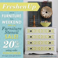 Get inspired to give your furnitures a fresh new look with a touch of a unique personal character using our Furniture stencils & Annie Sloan Chalk Paint!