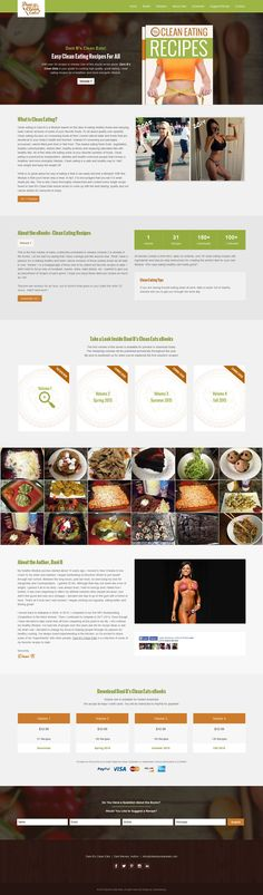 Dani B's Clean Eats - Clean Eating Recipes Custom one page built on 3 by Webunderdog. Clean Eating Recipes, Web Design, Template, Inspiration, Biblical Inspiration, Design Web, Vorlage, Website Designs, Inspirational