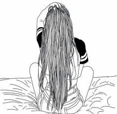 Image via We Heart It #bed #drawing #girl #grunge #outline #outlines #teen #teenager #tumblr #grungeoutline