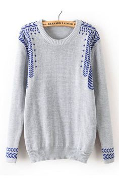++ Jacquard Weave Pullover