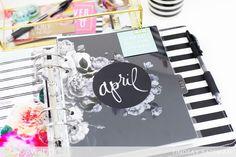Memory Planner Monthly Reset for April I @lindsaybateman for @heidiswapp
