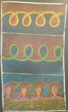 Dessin de formes, 1 ère classe Waldorf Math, Waldorf Kindergarten, Blackboard Drawing, Chalkboard Drawings, First Grade Math, Grade 1, Form Drawing, Waldorf Education, Border Design