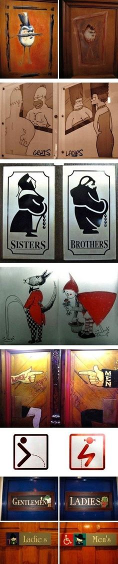 Bathroom Signs Funny Signage Toilets New Ideas Bathroom Signage, Bathroom Humor, Toilet Signage, Man Bathroom, Funny Toilet Signs, Funny Signs, Funny Images, Funny Photos, Toilet Symbol