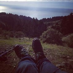 me and my beloved, well-worn Danner boots on Mt Tamalpais