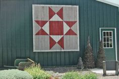barn quilts. Maybe something like this for our place.