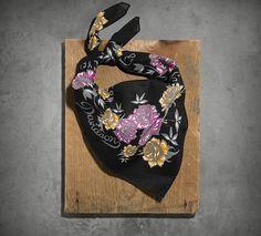 Women's Rose & Skull Bandana | New Arrivals | Official Harley-Davidson Online Store
