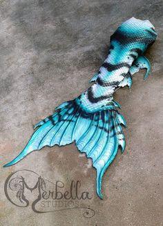 Merbella Studios Inc custom designed silicone realistic swimmable mermaid tail