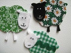 fabric sheep...could be put on top of little handprint...