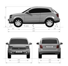 New Lada Niva - 2015 design proportions
