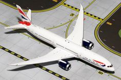 "1/200 Gemini Jets British Airways Boeing 787-9 Dreamliner Registration: G-ZBKA G2BAW544 SPECIAL ORDER - item usually ships in 5-10 days Length 12.40"" Wingspan 11.81"" Each model is very collectible and"