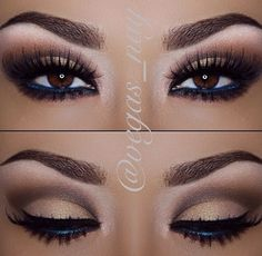 smokey eye make up. Make Up Looks, Gorgeous Makeup, Pretty Makeup, Flawless Makeup, Romantic Eye Makeup, Beauty Make-up, Beauty Hacks, Beauty Ideas, Kiss Makeup
