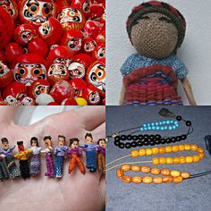 """Motivation Mondays:  """"I'm very happy with my life. I am what I am. I don't worry about anything that I can't control. That's a really good lesson in life."""" Tom Watson  WORRY - Red Daruma dolls, Worry Dolls and Worry Beads. 