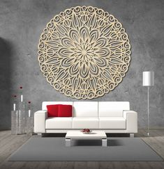 Stencil, Ottoman, Tapestry, Chair, Modern, Furniture, Home Decor, Mandalas, Hanging Tapestry