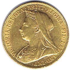 Moneda de oro Libra esterlina. Victoria. Gran Bretaña