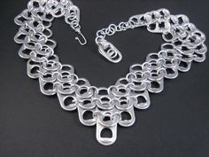 V Neck Pop Tab Chainmaille Necklace. $37.00, via Etsy.
