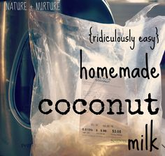Homemade coconut milk is 'da bomb. Even better, its SUPER easy to make. In this tutorial, I'll teach you how to create this yourself in 5 minutes.