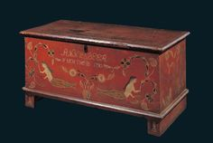ANNE BEER LOW BLANKET CHEST /Artist unidentified, Pennsylvania, 1790, paint on…