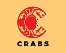 CRABS Logo design - Letter C from the shape of a crab. Price $155.00 Graphic Design Letters, Lettering Design, Logo Design, Winery Logo, Crab Illustration, Crab Tattoo, Horoscope Tattoos, Letter C, Slide Design
