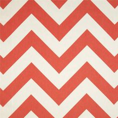 Premier Prints Zippy Chevron Coral from @fabricdotcom  Screen printed on cotton duck; this versatile medium weight fabric is perfect for window accents (draperies, valances, curtains and swags), accent pillows, duvet covers and upholstery. Create handbags, tote bags, aprons and more. *Use cold water and mild detergent (Woolite). Drying is NOT recommended - Air Dry Only - Do not Dry Clean.  Colors include white and coral.