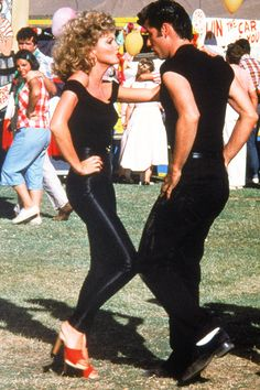 olivia newton john | Grease (1978).....I want to wear this outfit for Halloween one of these years